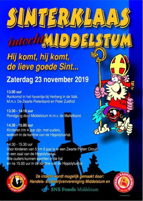 Intocht Sinterklaas Op Zaterdag 23 November Middelstum Info